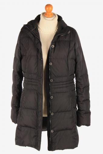 Women's Tommy Hilfiger Padded Jacket Overcoat Lightweight Vintage Size L Black C3074-163584