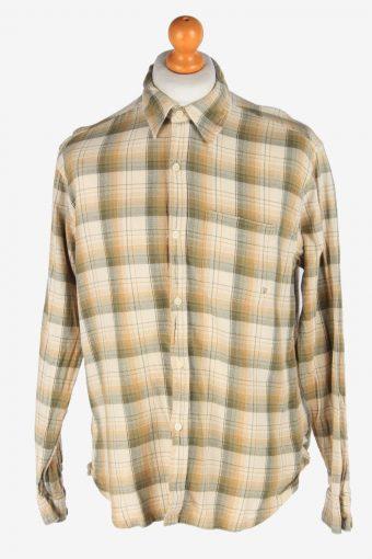 Wrangler Flannel Shirt Long Sleeve Button Up Vintage Size L Multi SH4069-163915