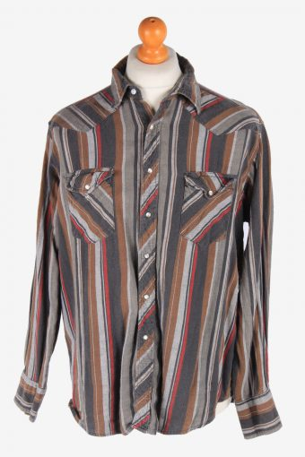 Wrangler Flannel Shirt 90s Thick Cotton Long Sleeve Multi XL