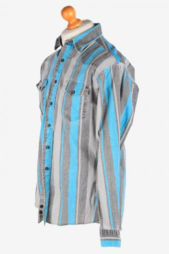 Wrangler Shirt Striped Cotton Button Up Vintage Size M Multi SH4105-164707
