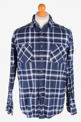 Wrangler Flannel Shirt 90s Thick Cotton Long Sleeve Multi M
