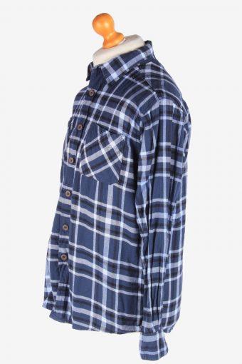 Wrangler Flannel Shirt Long Sleeves Button Up Pocket Vintage Size M Multi SH4106-164711