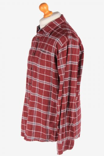 Wrangler Flannel Shirt Long Sleeves Thick Cotton Button Up Vintage Size L Multi SH4109-164723