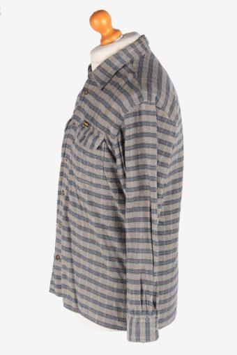 Wrangler Flannel Shirt Long Sleeves Button Up Pocket Vintage Size M Multi SH4110-164727