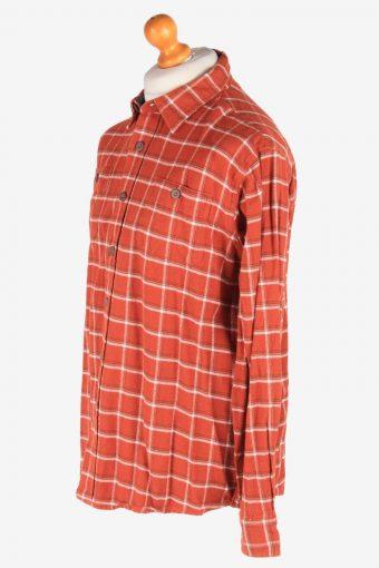 Wrangler Flannel Shirt Thick Cotton Button Up Vintage Size L Multi SH4111-164731