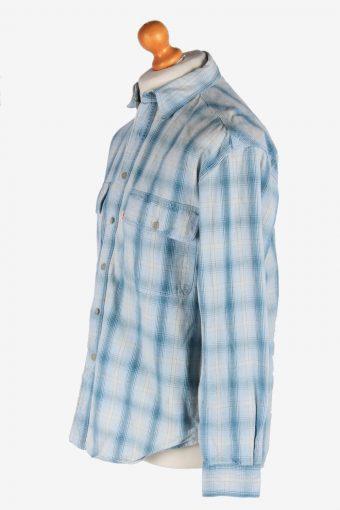 Levi's Flannel Shirt Thick Cotton Button Up Vintage Size M Blue SH4115-164743