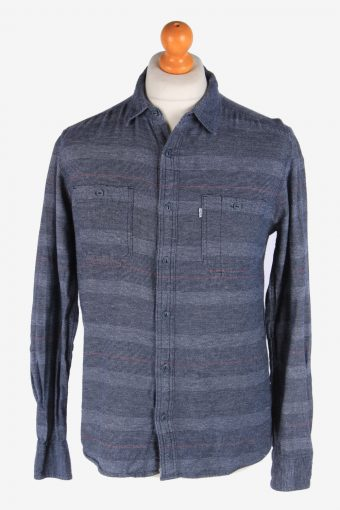 Levi's Flannel Shirt 90s Thick Cotton Long Sleeve Grey S