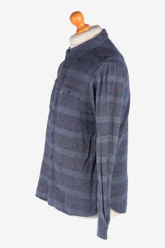Levi's Flannel Shirt Thick Cotton Button Up Vintage Size S Grey SH4117-164751