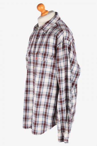 Levis Flannel Shirt Long Sleeves Button Up Vintage Size XL Multi SH4119-164776
