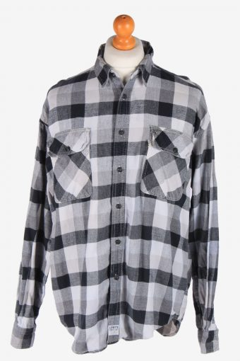 Levi's Flannel Shirt 90s Thick Cotton Long Sleeve Multi L