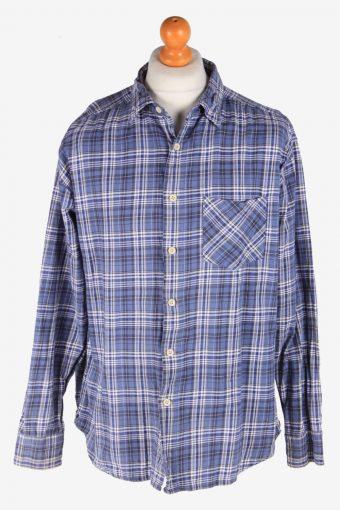 Levi's Flannel Shirt 90s Thick Cotton Long Sleeve Blue L