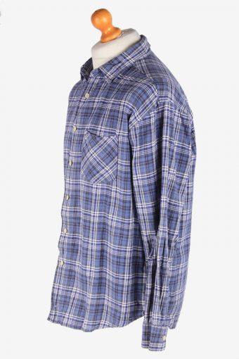 Levis Flannel Shirt Long Sleeves Thick Cotton Button Up Vintage Size L Blue SH4122-164788