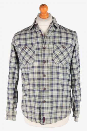 Wrangler Flannel Shirt 90s Thick Cotton Long Sleeve Multi S