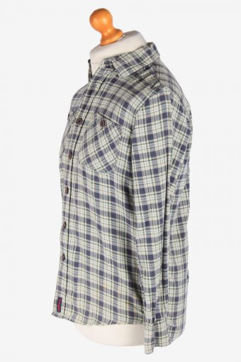 Wrangler Flannel Shirt Long Sleeves Button Up Vintage Size S Multi SH4126-164804