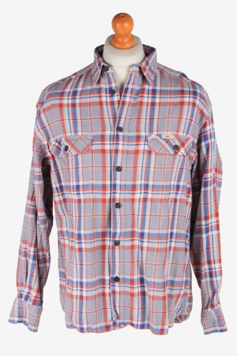 Lee Flannel Shirt 90s Thick Cotton Long Sleeve Multi L