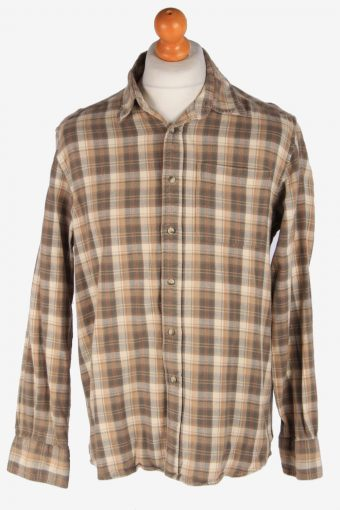 Flannel Shirt 90s Thick Cotton Long Sleeve Multi L