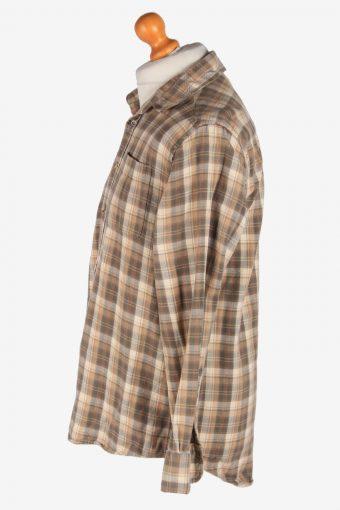 Flannel Shirt Men's Long Sleeves Button Up Vintage Size L Multi SH4132-164828