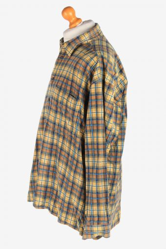 Men's Long Sleeves Corduroy Shirt Button Up Vintage Size XXL Multi SH4135-164836