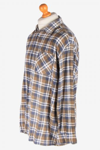 Men's Long Sleeves Flannel Shirt Casual Button Up Vintage Size XXL Multi SH4138-164848