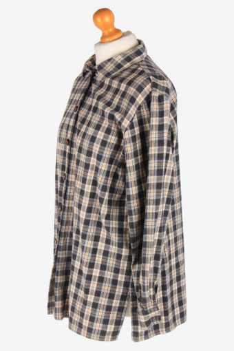 Women's Long Sleeves Flannel Shirt Casual Button Up Vintage Size L Multi SH4140-164856