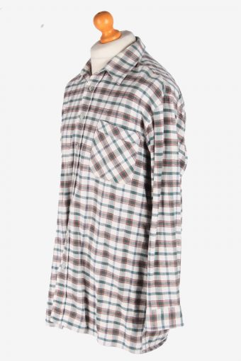 Men's Long Sleeves Flannel Shirt Casual Button Up Vintage Size XXL Multi SH4141-164860