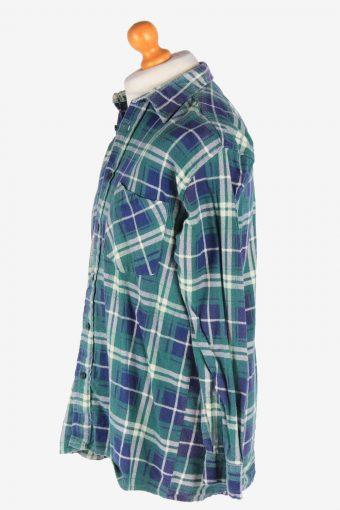 Flannel Shirt Men's Long Sleeves Button Up Vintage Size L Multi SH4143-164868
