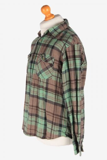 Flannel Shirt Men's Long Sleeves Button Up Vintage Size L Multi SH4144-164872