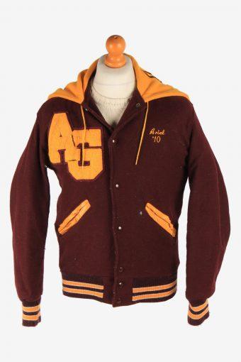 Mens Baseball Jacket College Varsity Vintage Size S Purple C2962-162575