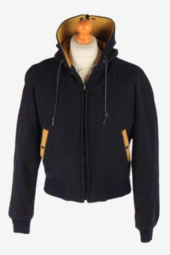 Womens Baseball Jacket College Varsity Vintage Size S Navy C2976-162659