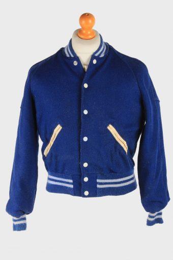 Junior Varsity Baseball Jacket USA College Vintage Size 18 Blue C2977