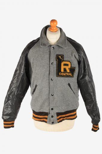 Mens Varsity Baseball Jacket USA College Vintage Size L Multi C2984