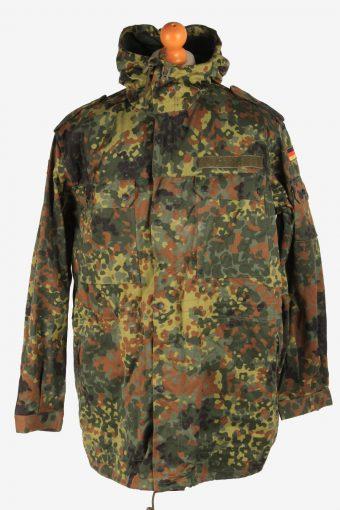 Mens German Army Flectarn Camo Parka Vintage Size XL Camouflage C2999