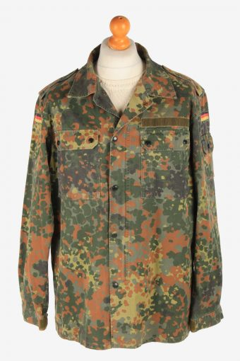Mens German Army Shirt Military Vintage Size XL Camouflage C3002
