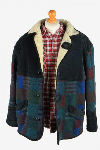 Men's Aztec Print Sherpa Lined Coat Vintage Size M Multi C2707-159537