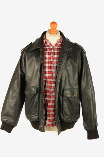 Men's Leather Motorcycle Biker Jacket Vintage Size XL Black C2723-159633