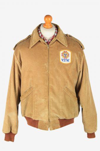 King Louie  Mens Corduroy Jacket Pilot Vintage Size L Brown C2812