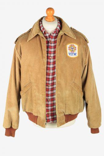 King Louie Mens Corduroy Jacket Pilot Vintage Size L Brown C2812-160179