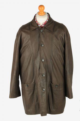 Mens Daniel  Hechter Leather Jacket Vintage Size XL Dark Brown C2816