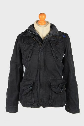 Super Dry Womens Jacket Outdoor Zip Up Vintage Size S Black C2836