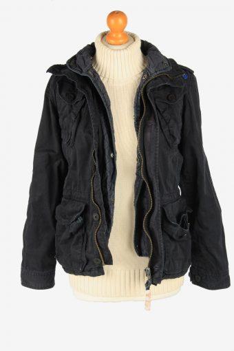 Super Dry Womens Jacket Outdoor Zip Up Vintage Size S Black C2836-160323