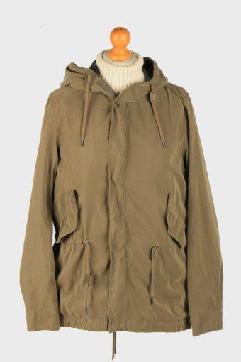 Super Dry Mens Jacket Outdoor Hooded Vintage Size M Green C2838