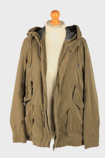 Super Dry Mens Jacket Outdoor Hooded Vintage Size M Green C2838-160335