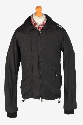 Super Dry Mens Jacket Outdoor Zip Up Vintage Size XL Black C2840