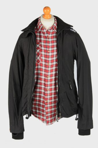 Super Dry Mens Jacket Outdoor Zip Up Vintage Size XL Black C2840-160347