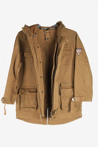 Tommy Hilfiger Mens Jacket Outdoor Zip Up Vintage Size XS Brown C2843-160365