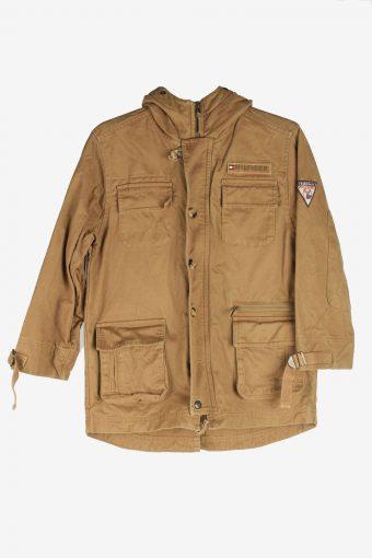 Tommy Hilfiger Mens Jacket Outdoor Zip Up Vintage Size XS Brown C2843