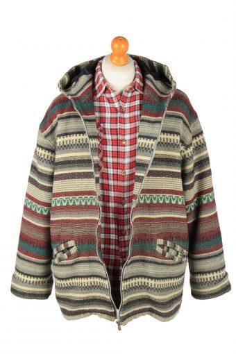 Virgin Island Mens Aztec Jacket Blanket Print Vintage Size L Multi C2844-160371