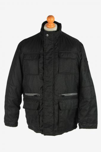 Mens Paul Smith Outdoor Coat Zip Up Vintage Size M Black C2930