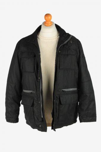 Mens Paul Smith Outdoor Coat Zip Up Vintage Size M Black C2930-161993