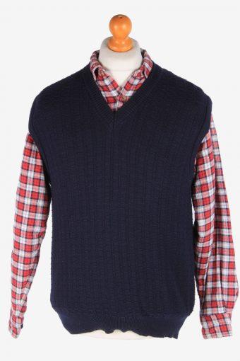 Sleeveless Jumper Sweater Vest Pullover 90s Navy M